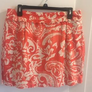 FOREVER 21 CORAL PATTERNED SKIRT